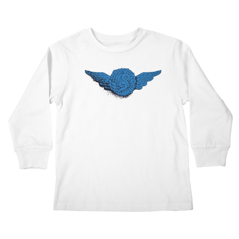 Winged Fingers Ball Kids Longsleeve T-Shirt by Dror Miler's Artist Shop