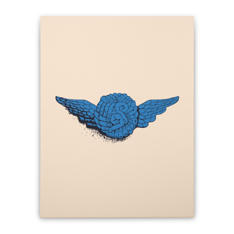 Winged Fingers Ball Home Stretched Canvas by Dror Miler's Artist Shop
