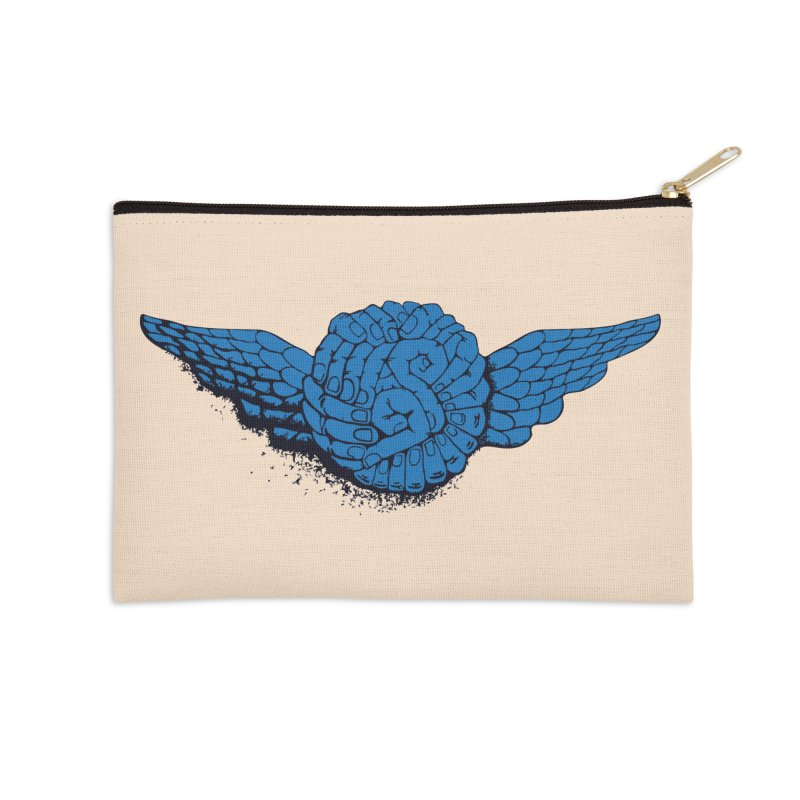 Winged Fingers Ball Accessories Zip Pouch by Dror Miler's Artist Shop