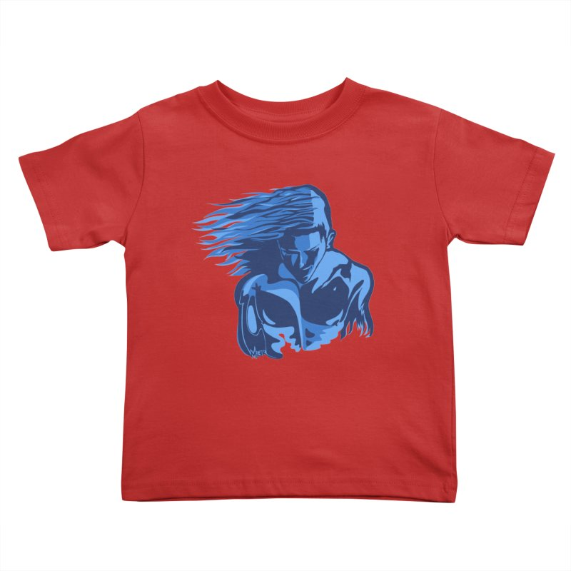 Blue Wind Man Kids Toddler T-Shirt by Dror Miler's Artist Shop