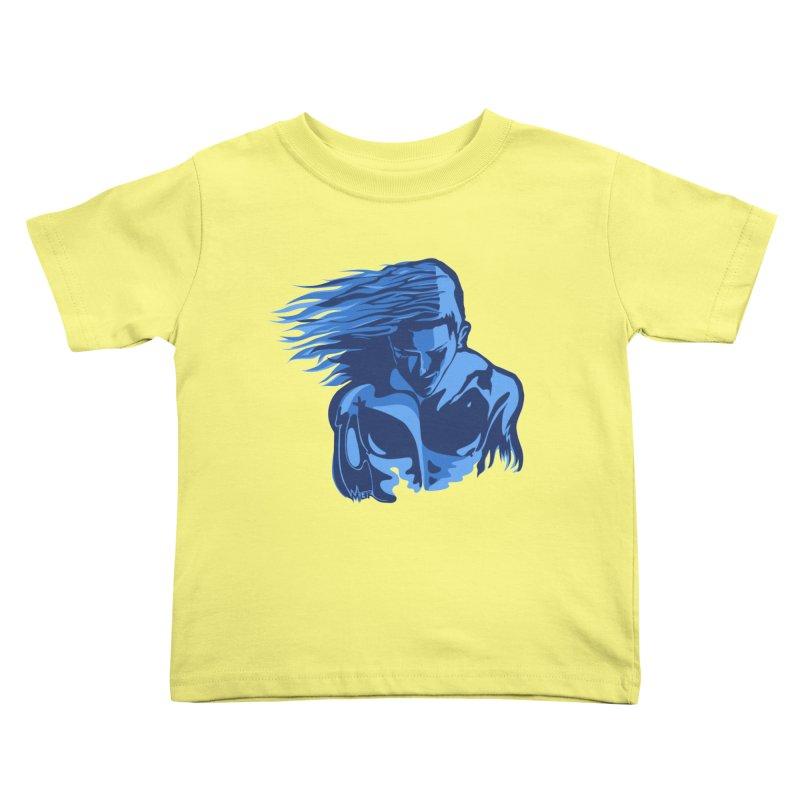 Blue Wind Man Kids Toddler T-Shirt by Dror Miler's Artist Shop