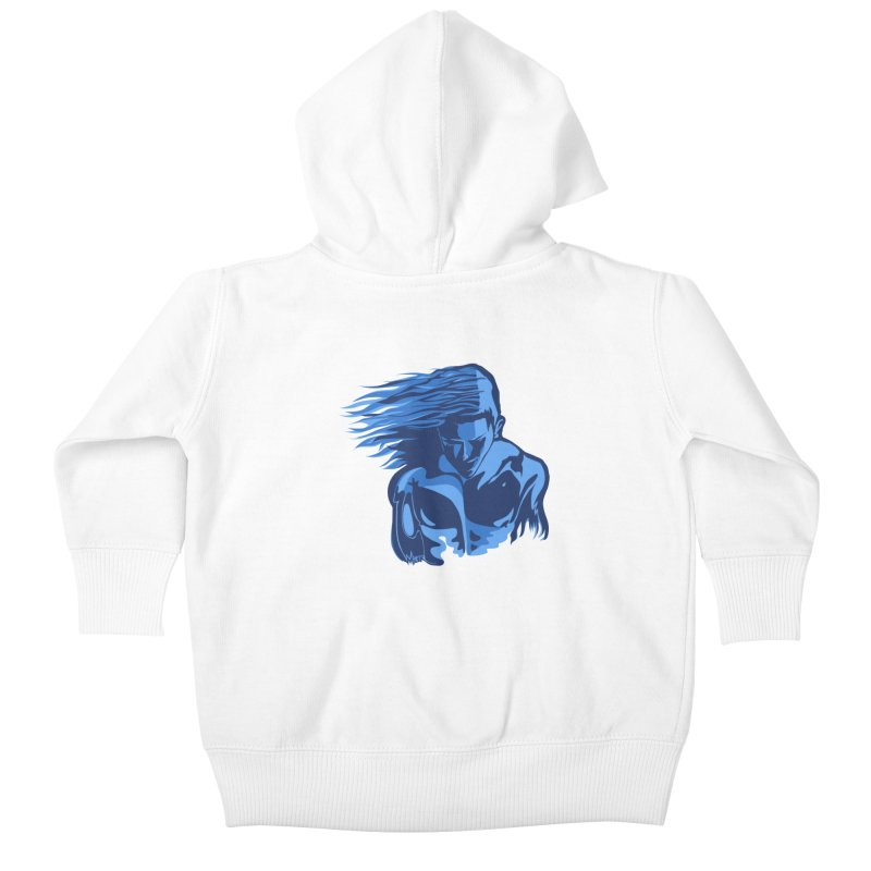 Blue Wind Man Kids Baby Zip-Up Hoody by Dror Miler's Artist Shop