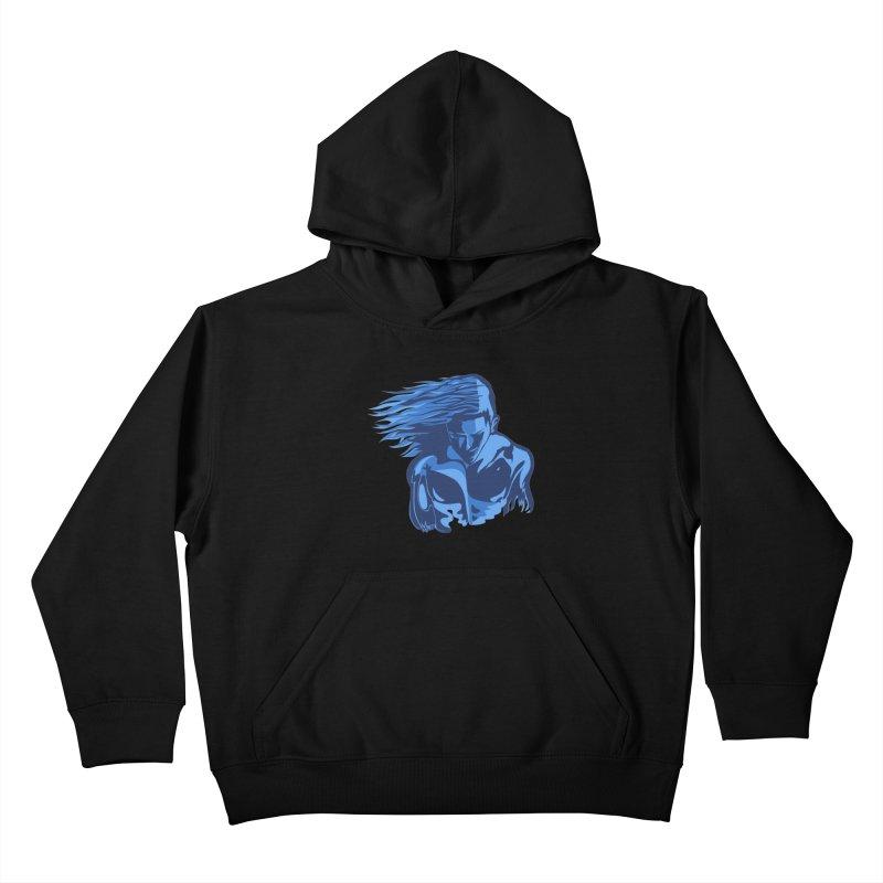 Blue Wind Man Kids Pullover Hoody by Dror Miler's Artist Shop