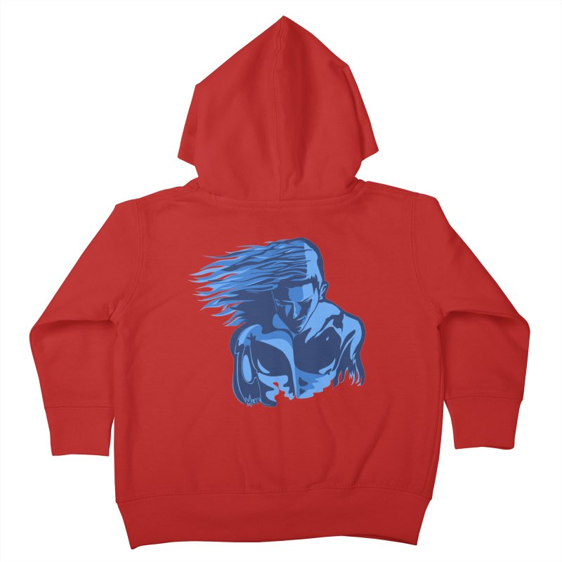 Blue Wind Man Kids Toddler Zip-Up Hoody by Dror Miler's Artist Shop