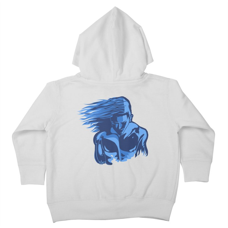 Blue Wind Man Kids Toddler Zip-Up Hoody by Dror Miler's Artist Shop