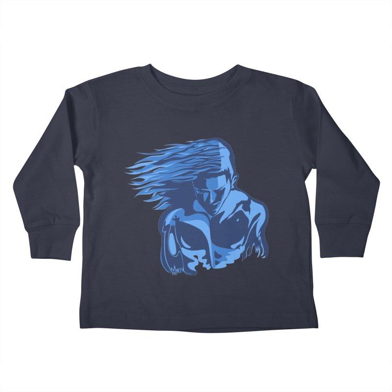Blue Wind Man Kids Toddler Longsleeve T-Shirt by Dror Miler's Artist Shop