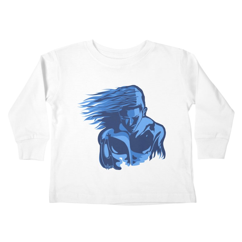 Blue Wind Man Kids Toddler Longsleeve T-Shirt by Dror Miler's Artist Shop