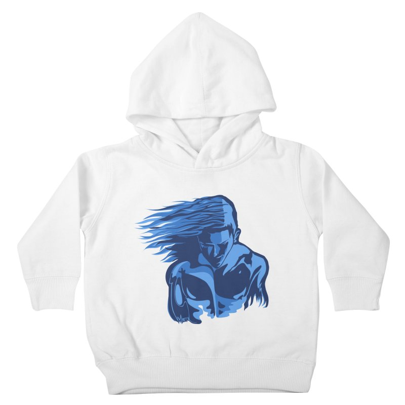 Blue Wind Man Kids Toddler Pullover Hoody by Dror Miler's Artist Shop