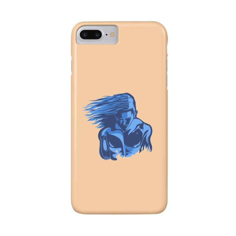 Blue Wind Man Accessories Phone Case by Dror Miler's Artist Shop