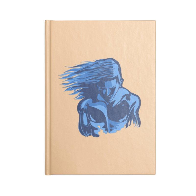 Blue Wind Man Accessories Notebook by Dror Miler's Artist Shop