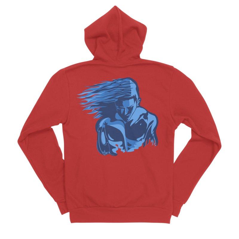 Blue Wind Man Men's Zip-Up Hoody by Dror Miler's Artist Shop