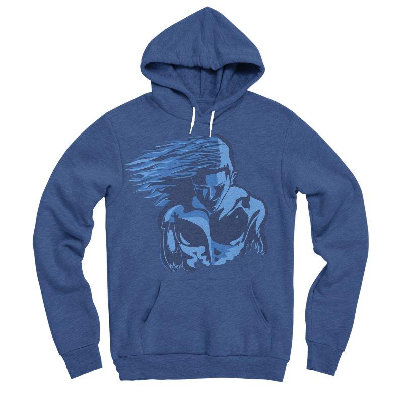 Blue Wind Man Men's Sponge Fleece Pullover Hoody by Dror Miler's Artist Shop