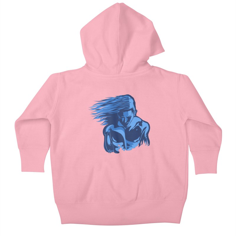Blue Wind Man Kids Baby Zip-Up Hoody by Dror Miler's Artist Shop