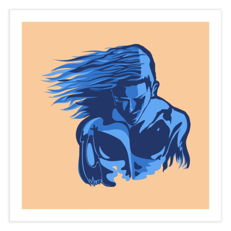 Blue Wind Man Home Fine Art Print by Dror Miler's Artist Shop