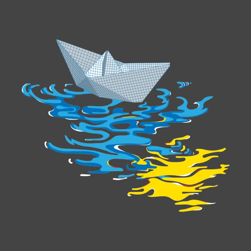 Simple Paper Boat Men's T-Shirt by Dror Miler's Artist Shop