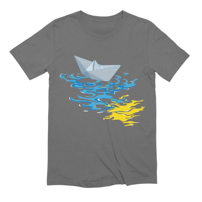 Simple Paper Boat Men's T-Shirt by Dror Miler's Artist Shop