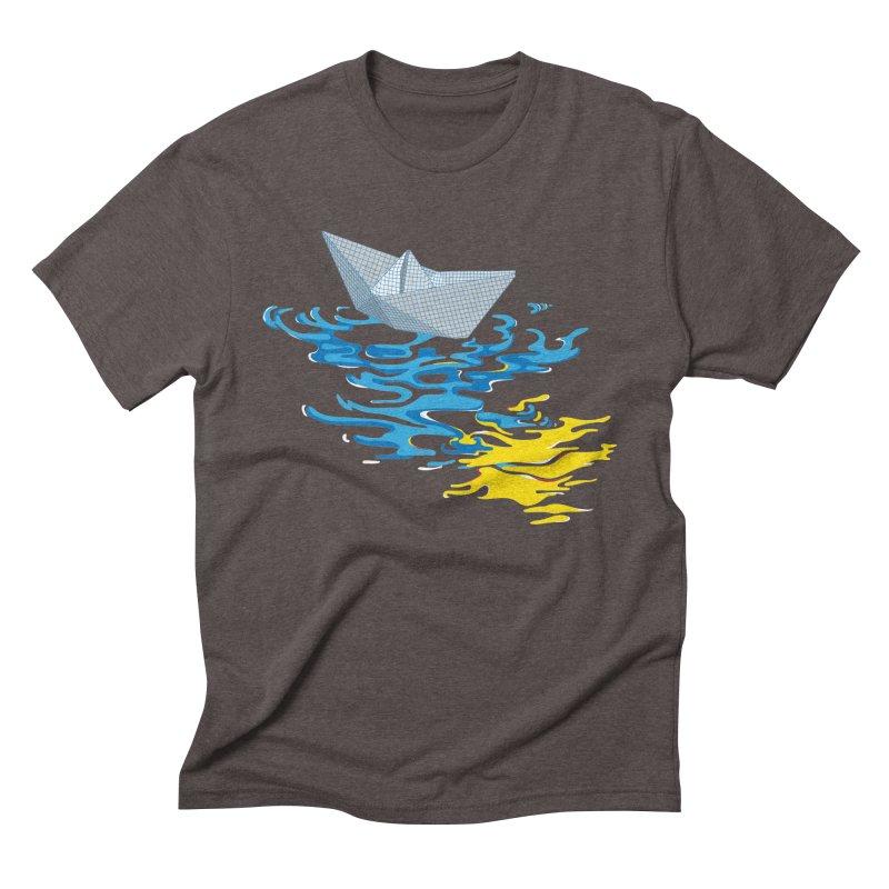 Simple Paper Boat Men's Triblend T-Shirt by Dror Miler's Artist Shop