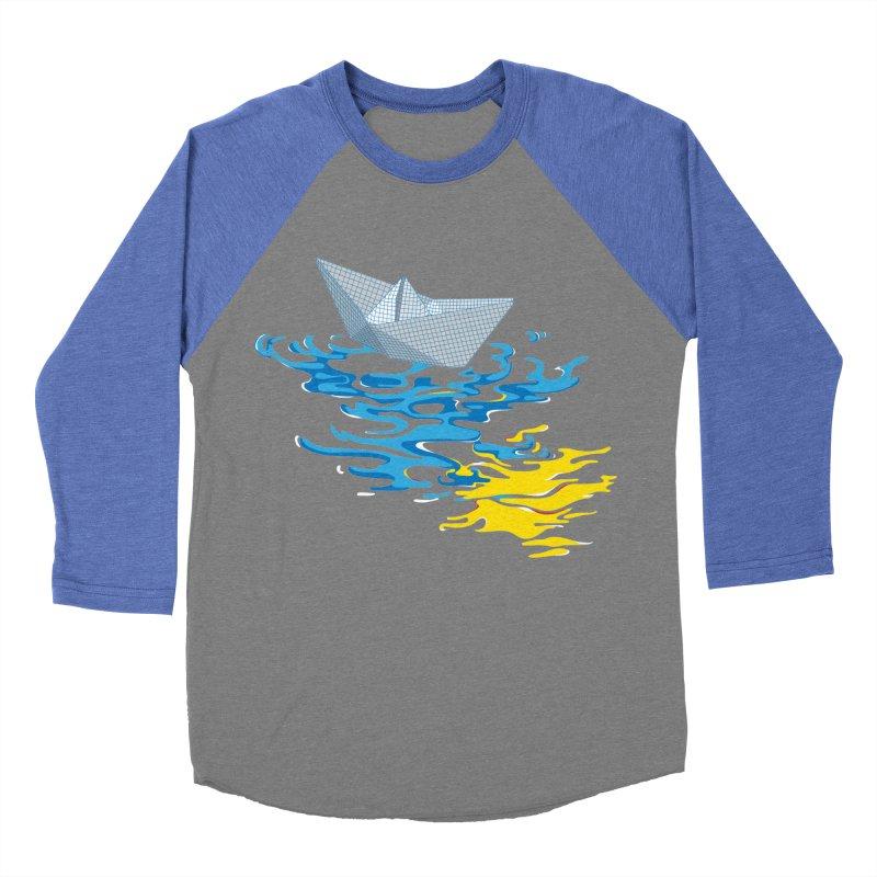 Simple Paper Boat Women's Baseball Triblend T-Shirt by Dror Miler's Artist Shop
