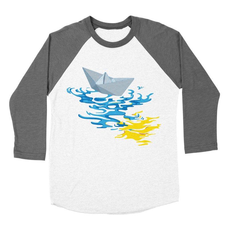 Simple Paper Boat Men's Baseball Triblend T-Shirt by Dror Miler's Artist Shop