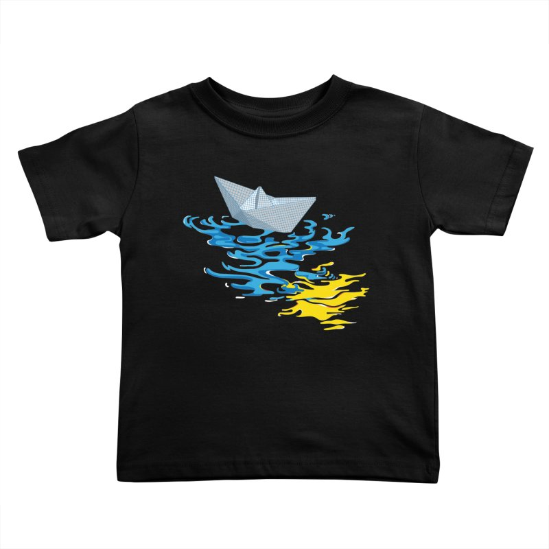 Simple Paper Boat Kids Toddler T-Shirt by Dror Miler's Artist Shop