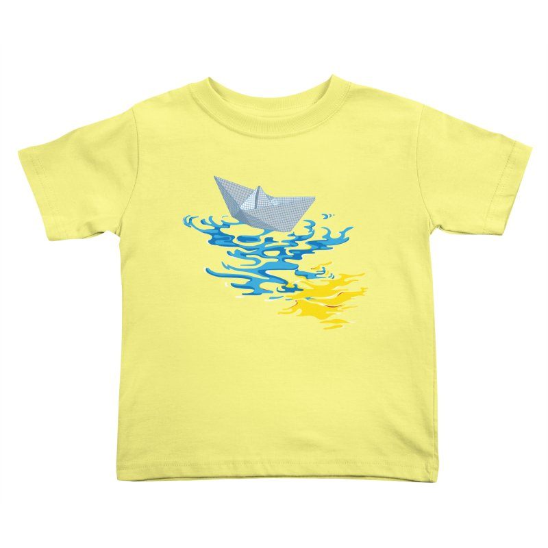 Simple Paper Boat Kids Toddler T-Shirt by Dror Miler's Artist Shop