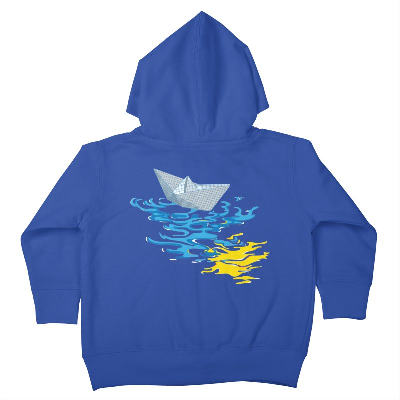 Simple Paper Boat Kids Toddler Zip-Up Hoody by Dror Miler's Artist Shop