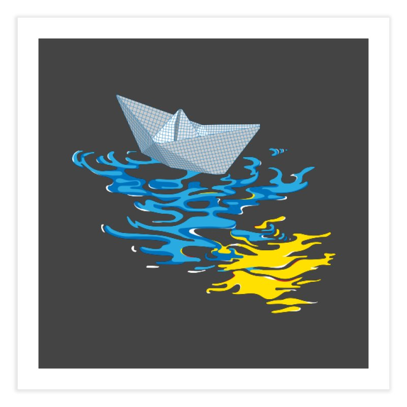 Simple Paper Boat Home Fine Art Print by Dror Miler's Artist Shop