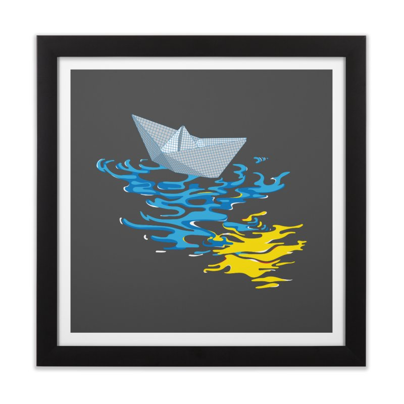 Simple Paper Boat Home Framed Fine Art Print by Dror Miler's Artist Shop