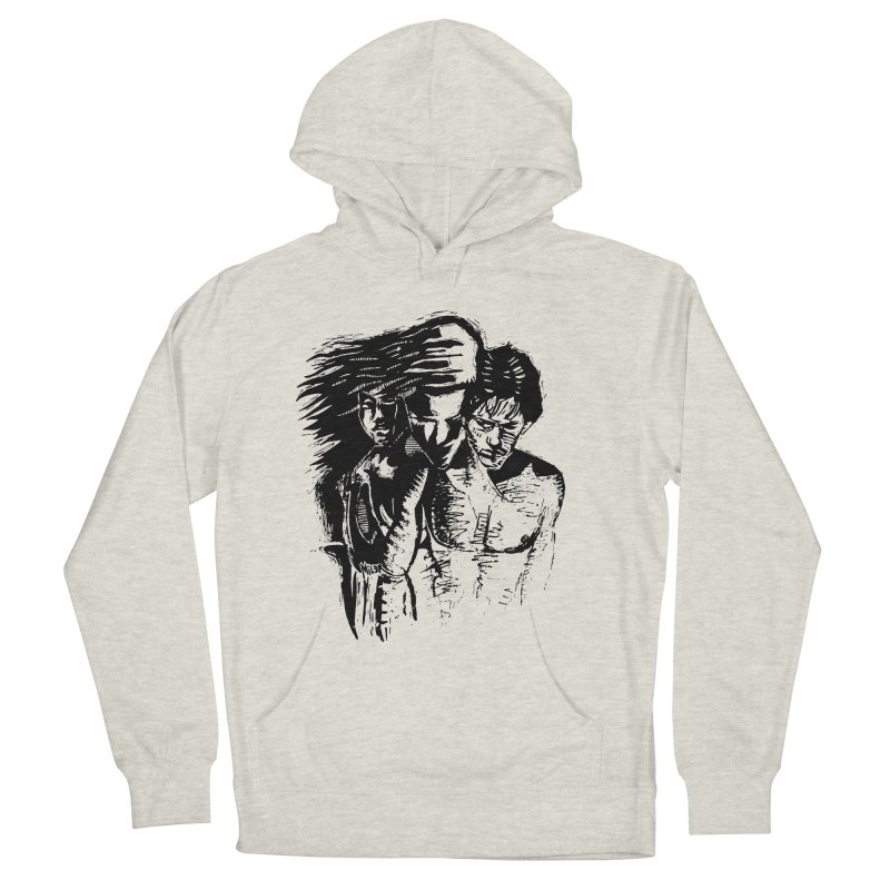 Three Men's French Terry Pullover Hoody by Dror Miler's Artist Shop