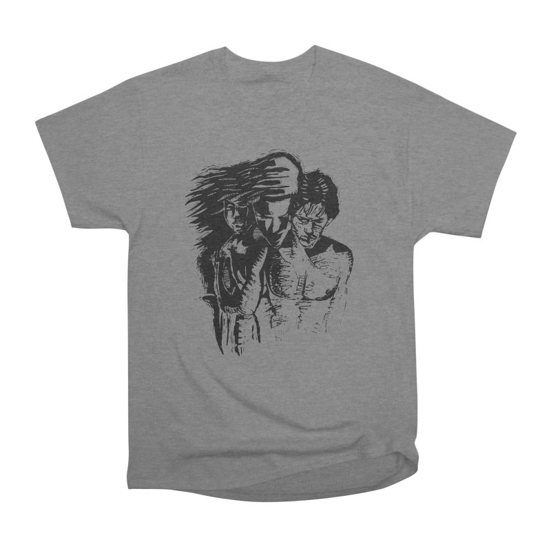 Three Women's Heavyweight Unisex T-Shirt by Dror Miler's Artist Shop