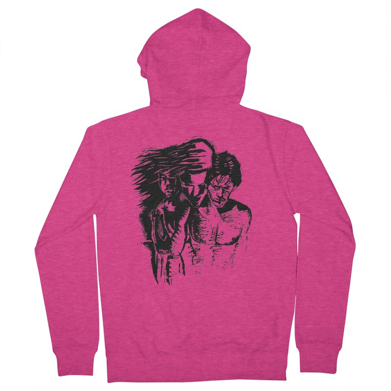 Three Women's French Terry Zip-Up Hoody by Dror Miler's Artist Shop