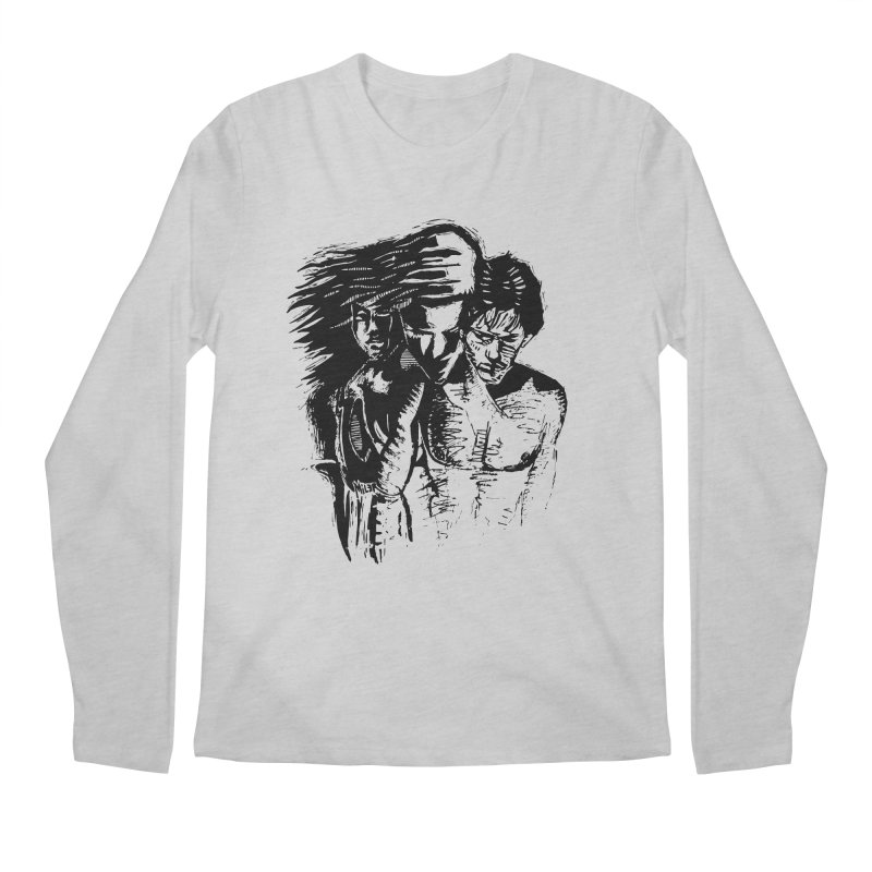 Three Men's Longsleeve T-Shirt by Dror Miler's Artist Shop