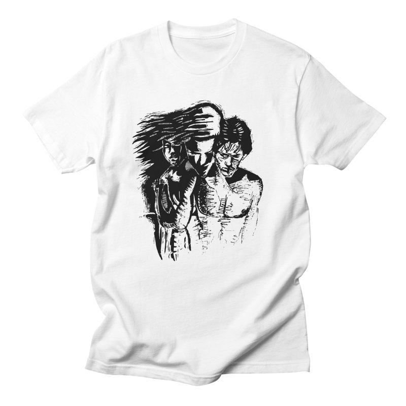Three Men's T-Shirt by Dror Miler's Artist Shop