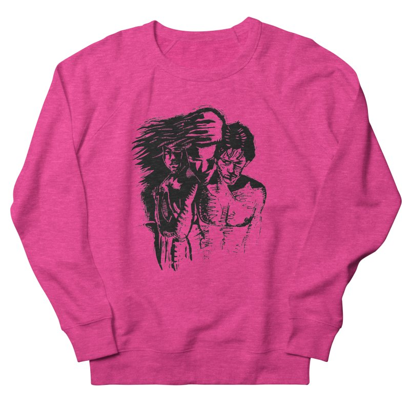 Three Women's French Terry Sweatshirt by Dror Miler's Artist Shop