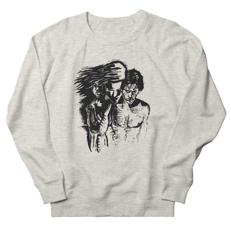 Three Men's Sweatshirt by Dror Miler's Artist Shop