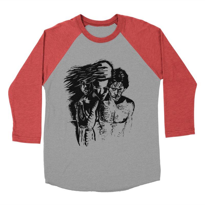 Three Women's Baseball Triblend Longsleeve T-Shirt by Dror Miler's Artist Shop