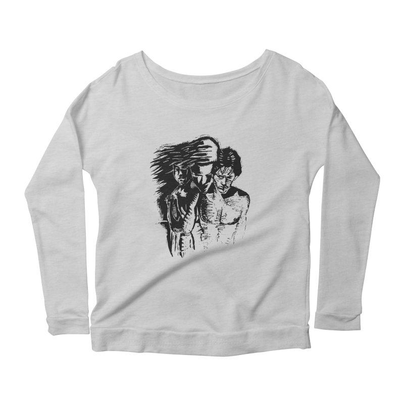 Three Women's Longsleeve T-Shirt by Dror Miler's Artist Shop