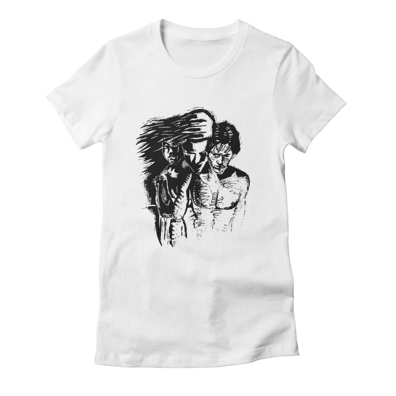 Three Women's Fitted T-Shirt by Dror Miler's Artist Shop