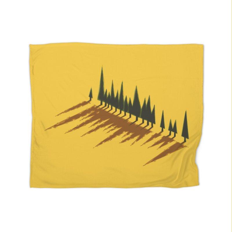 Cypresses sunset Home Blanket by Dror Miler's Artist Shop
