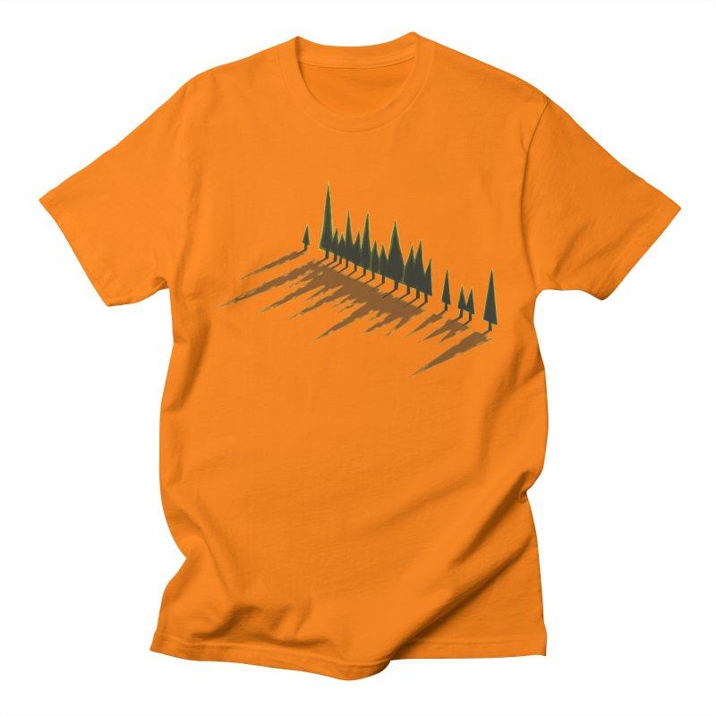 Cypresses sunset Men's T-Shirt by Dror Miler's Artist Shop