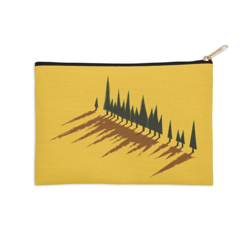 Cypresses sunset Accessories Zip Pouch by Dror Miler's Artist Shop