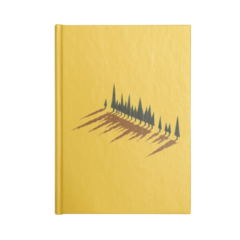 Cypresses sunset Accessories Notebook by Dror Miler's Artist Shop