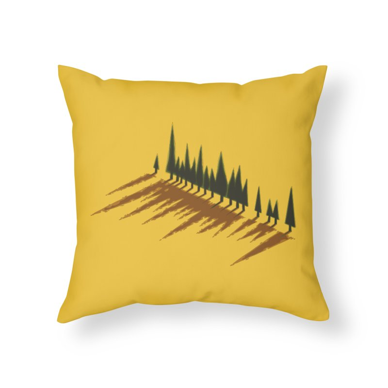 Cypresses sunset Home Throw Pillow by Dror Miler's Artist Shop