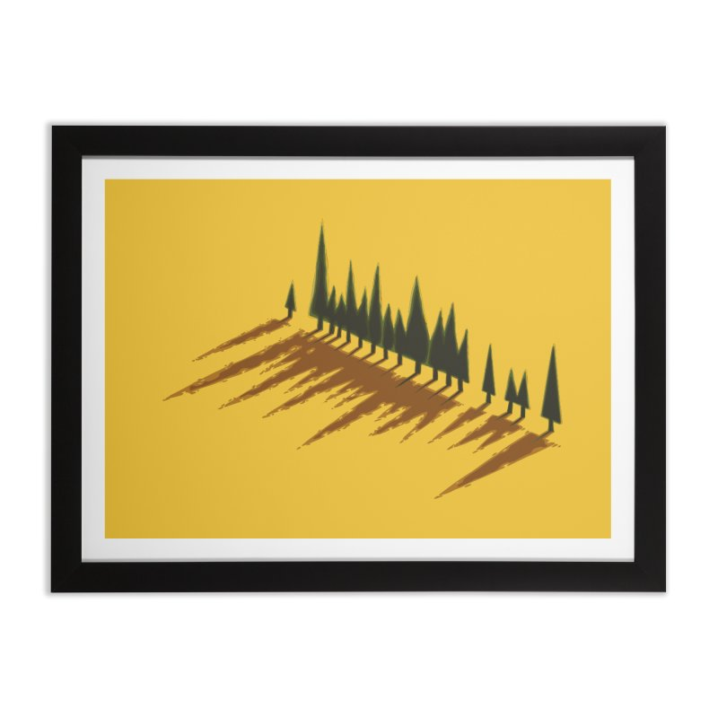 Cypresses sunset Home Framed Fine Art Print by Dror Miler's Artist Shop