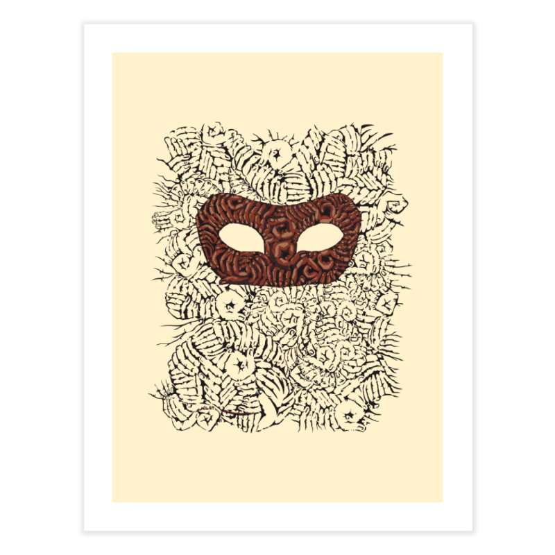 Fingers Mask Home Fine Art Print by Dror Miler's Artist Shop