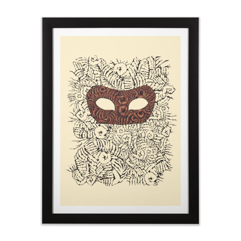 Fingers Mask Home Framed Fine Art Print by Dror Miler's Artist Shop