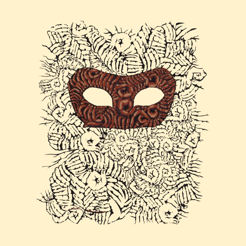 Fingers Mask Men's Triblend T-shirt by Dror Miler's Artist Shop
