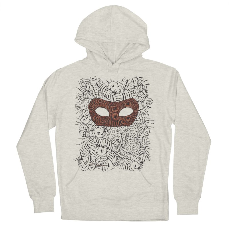 Fingers Mask Men's Pullover Hoody by Dror Miler's Artist Shop