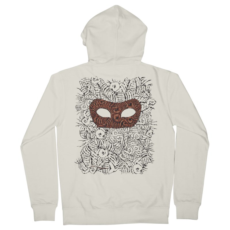 Fingers Mask Men's Zip-Up Hoody by Dror Miler's Artist Shop