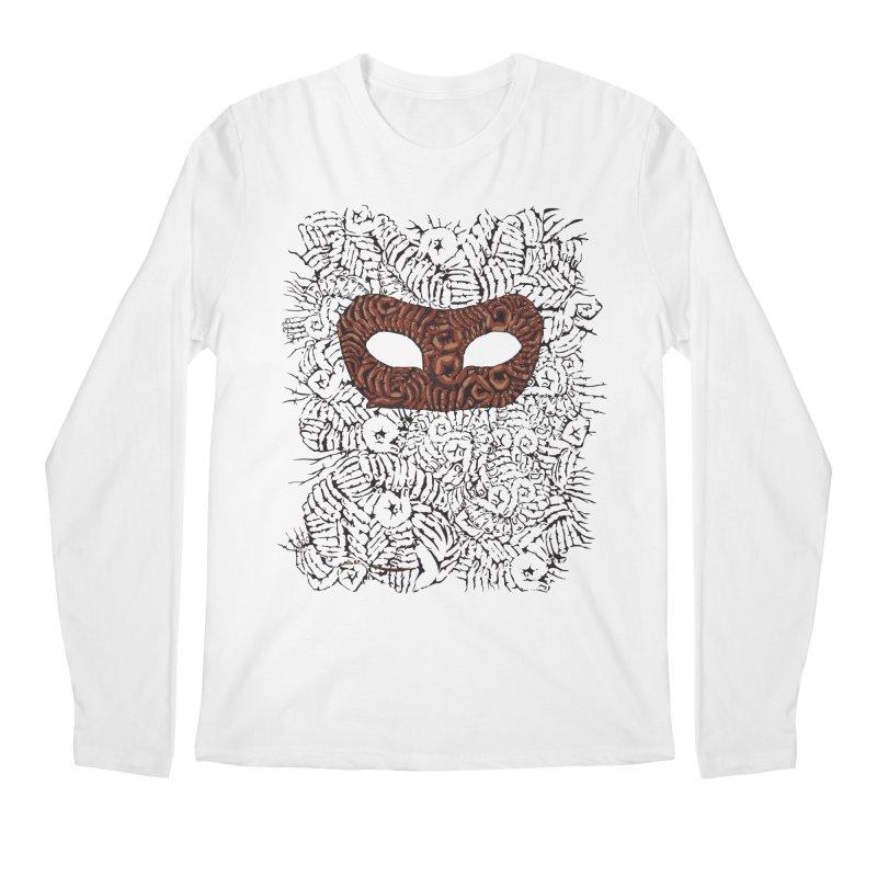 Fingers Mask Men's Longsleeve T-Shirt by Dror Miler's Artist Shop